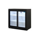 Arctica Double Sliding Door Bottle Cooler - Black
