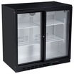 Blizzard BAR2SL Bottle Cooler 2 Sliding Drs -Black