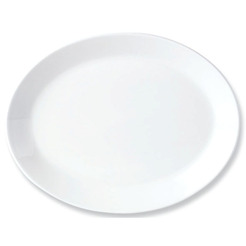 Simplicity Plate Coupe Oval White 39.5cm