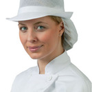 Mesh Hat With Snood Headwear White M