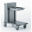 Self-Levelling Glass Rack Dispenser Trolley