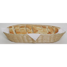 Display Basket Brown Polywicker Oval 38 x 15cm
