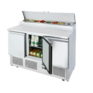 Ice-A-Cool ICE3853GR 3 Dr Open Top Saladette 1/6GN