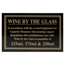 Sign - Wine By The Glass 125ml