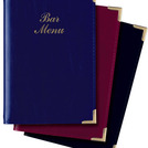 A5 Bar Menu Cover Navy 4 Sides To View