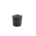 Stainless Steel Serving Cup Hammered 8.5cm Blk