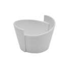 Eden White Melamine Lotus Bowl 65ml