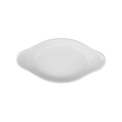 Superwhite Oval Eared Dish 28cm