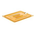 Gastronorm Notched Lid High Heat Poly 1/6 Amber