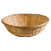 Basket Brown Wooden Round 23cm