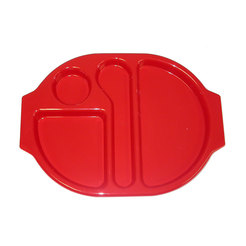 Meal Tray Red 38 x 28cm Polycarbonate