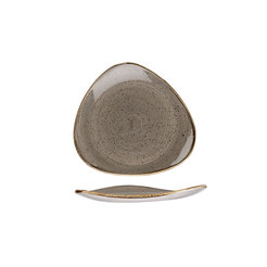 Stonecast Peppercorn Grey Triangle Plate 19.2cm