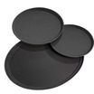 Black Tray Round 35.5cm Anti Slip