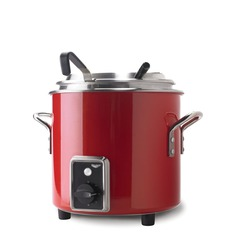 Vollrath 7217455 Retro Soup Kettle 10.4L - Red