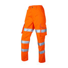Pennymoor Ladies Hi-Vis Cargo Trousers Orange Regular