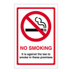 No Smoking It Is Against The Law On Premises