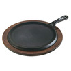Griddle Handled Black Cast Iron Round 23cm